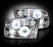 RECON-264270CLCC-RECON Projector Headlights Dodge Ram 09-12 CLEAR w/ CCFL HALOS Part# 264270CLCC-AutoAccessoriesGuru.com