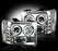 RECON-264271CL-RECON Projector Headlights Sierra & Denali 07-13 CLEAR w LED HALOS Part# 264271CL-AutoAccessoriesGuru.com