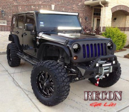 RECON-264274BK-RECON Projector Headlights Jeep Wrangler 07-17 SMOKED Part# 264274BK-AutoAccessoriesGuru.com