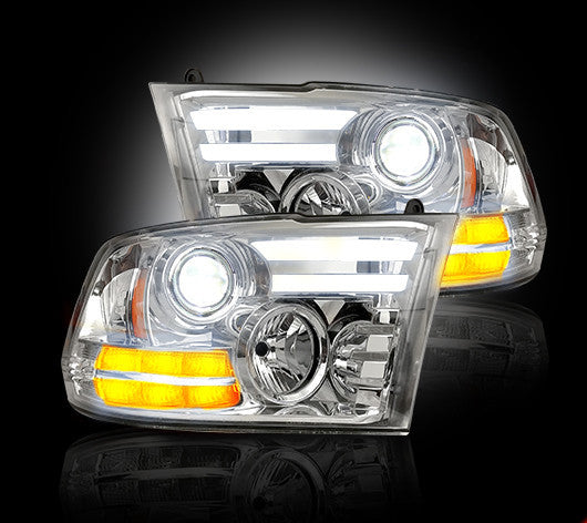 RECON-264276CLC-RECON Projector Headlights Dodge Ram 13-16 CLEAR Part# 264276CLC-AutoAccessoriesGuru.com