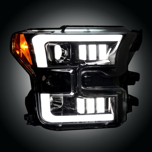 Recon 264290BKC PROJECTOR HEADLIGHTS Ford F-150 15-17 Smoked/Black #264290BKC-Auto Accessories Guru .COM
