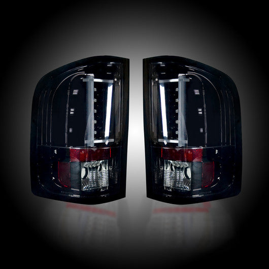 RECON-264291BK-RECON LED Tail Lights Chevy Silverado 07-13 SMOKED Part# 264291BK-AutoAccessoriesGuru.com