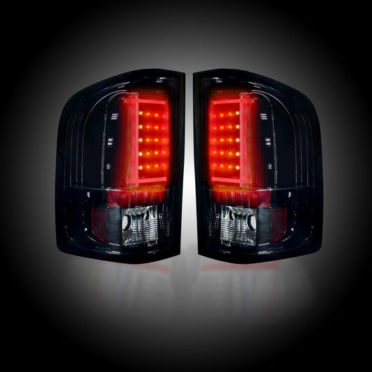 RECON-264291BK-RECON LED Tail Lights GMC Sierra 07-13 SMOKED Part# 264291BK-AutoAccessoriesGuru.com