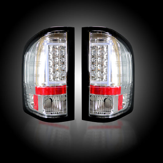 RECON-264291CL-RECON LED Tail Lights Chevy Silverado 07-13 CLEAR Part# 264291CL-AutoAccessoriesGuru.com