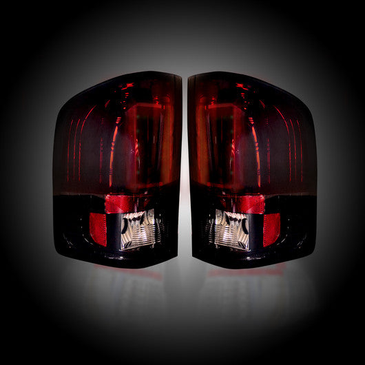 RECON-264291RBK-RECON LED Tail Lights GMC Sierra 07-13 RED SMOKED Part# 264291RBK-AutoAccessoriesGuru.com