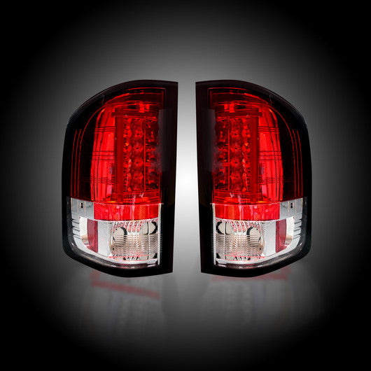 RECON-264291RD-RECON LED Tail Lights GMC Sierra 07-13 RED CLEAR Part# 264291RD-AutoAccessoriesGuru.com