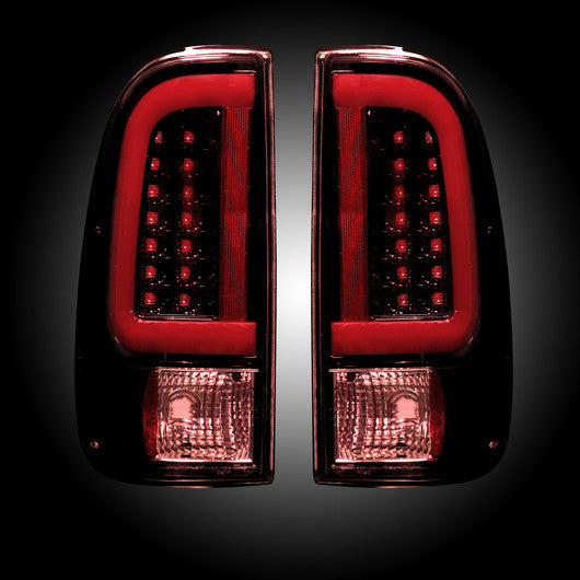 Recon LED Tail Lights Ford SuperDuty 99-07 RED SMOKED #264292RBK-Auto Accessories Guru .COM