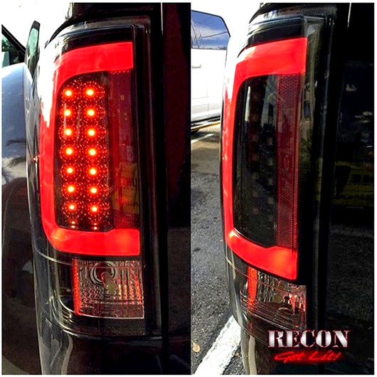 Recon Led Tail Lights Ford Superduty 08 16 Smoked Part 264293bk