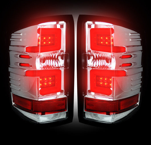Recon LED Tail Lights Chevy Silverado 16-17 CLEAR OLED #264297CL-Auto Accessories Guru .COM