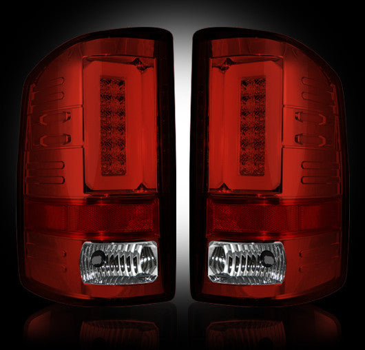 RECON-264298RBK-RECON LED Tail Lights GMC Sierra 16-17 RED SMOKED OLED Part# 264298RBK-AutoAccessoriesGuru.com
