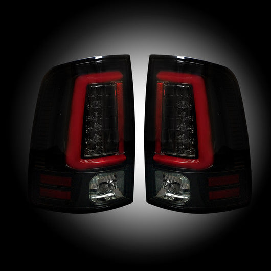 Recon LED Tail Lights Dodge Ram 13-17 SMOKED OLED #264336BK-Auto Accessories Guru .COM