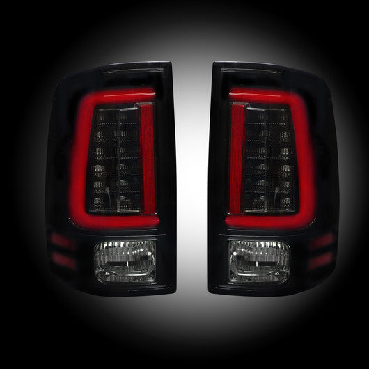Recon LED Tail Lights Dodge Ram 09-14 SMOKED OLED #264369BK-Auto Accessories Guru .COM