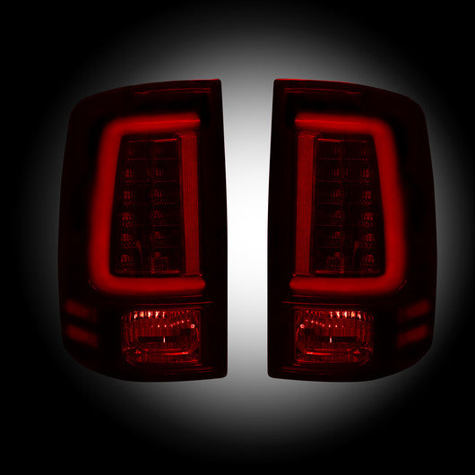 Recon LED Tail Lights Dodge Ram 09-14 RED SMOKED OLED #264369RBK-Auto Accessories Guru .COM