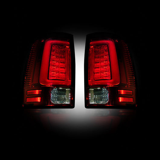 Recon LED Tail Lights Dodge Ram 09-14 RED CLEAR OLED #264369RD-Auto Accessories Guru .COM