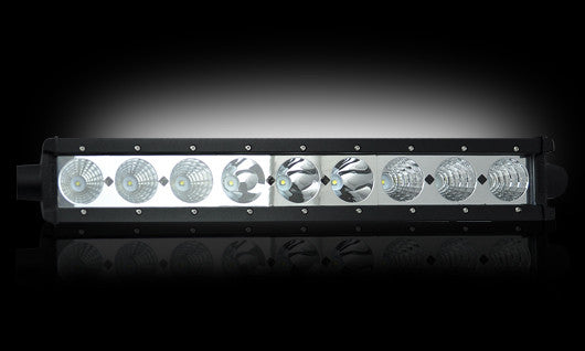"RECON 264510CL Single Row 18"" LED Light Bar w/ Nine 10-Watt CREE XTE"