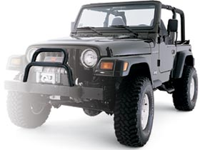 WARN Industries-37171-Grille Guard Tube 98-06 Wrangler TJ Factory Bumper WARN Industries-AutoAccessoriesGuru.com