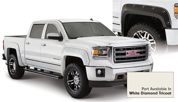 Bushwacker 40958-24 BOSS Pocket Flares White Diamond Tricoat GMC Sierra
