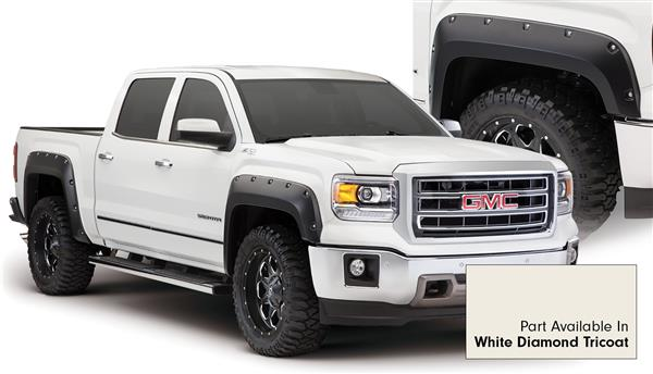 Bushwacker 40960-24 Pocket Style Fender Flares GMC Sierra 14 15 White Diamond Tricoat