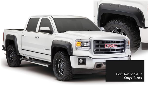 Bushwacker 40960-34 Pocket Fender Flares GMC 14 15 Onyx Black