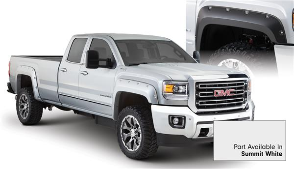 Bushwacker 40967-14 Pocket Fender Flares GMC Sierra HD 15 16 Summit White