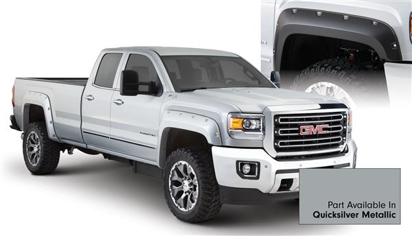 Bushwacker 40967-54 Pocket Fender Flares GMC Sierra HD 15 16 Quicksilver Metallic