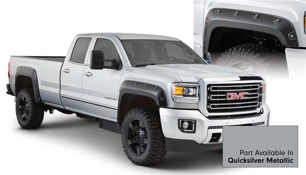 Bushwacker 40968-54 BOSS Pocket Fender Flares GMC Sierra HD 15 16 Quicksilver Metallic