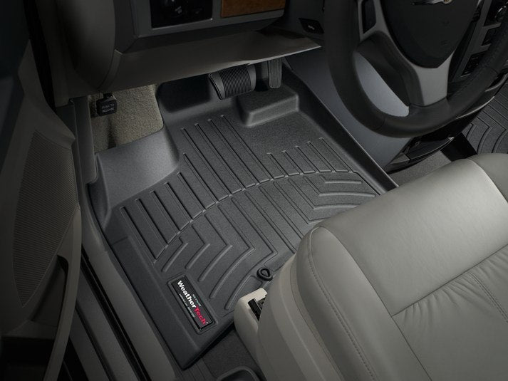 WeatherTech 444211-441414 Digital Fit Floor Liners Chrysler Town and Country Van 2011 2012 2013 2014 2015 2016 1st 2nd 3rd Row Black Mats