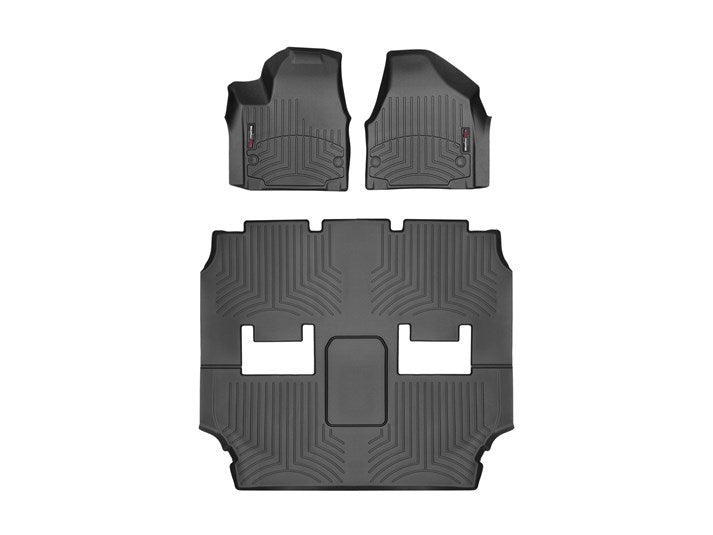 WeatherTech 449451-449452 Digital Fit Floor Liners 2017 2018 17 18 Chrysler Pacifica Front and Rear Black