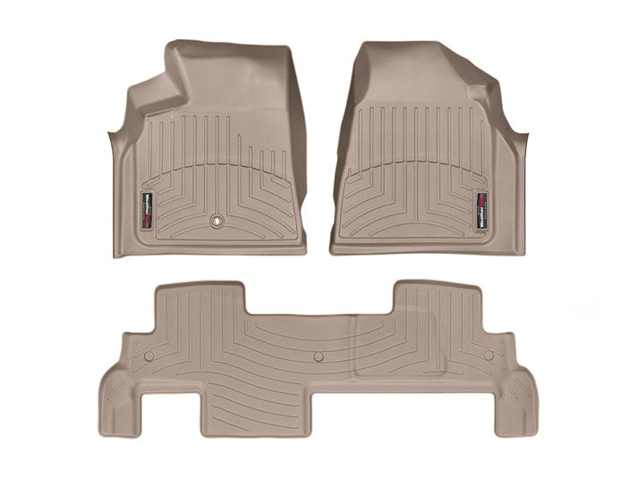 WeatherTech® 452511-451112 Chevy Traverse 09-17 TAN Floor Liner Set