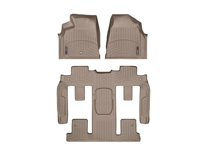 WeatherTech Digital Fit Floor Liners 452511-459423 Tan Front and Rear 11 12 13 14 15 16 17 Buick Enclave w/ 2nd Row BUCKET SEATS