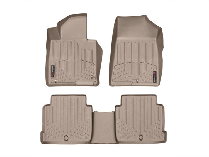 WeatherTech-456661-456662-WeatherTech® 45666-1-2 Kia Optima 16-18 TAN Full Set *NOT Hybrid-AutoAccessoriesGuru.com