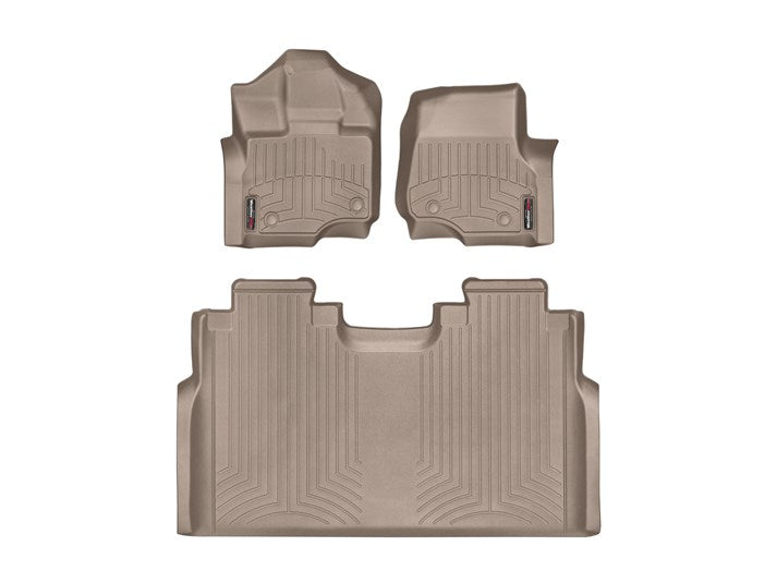 WeatherTech® 456971-456974 Ford F-150 15-17 Crew Cab TAN Full Set