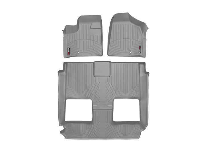 WeatherTech 464211-461414 Digital Fit Floor Liners Dodge Grand Caravan 2011 2012 2013 2014 2015 2016 2017 2018 1st 2nd 3rd Row Gray Mats