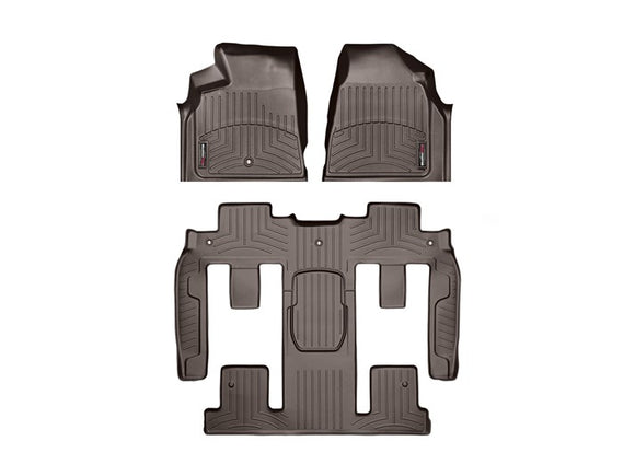 WeatherTech Digital Fit Floor Liners 472511-479423 Cocoa Front and Rear 11 12 13 14 15 16 GMC Acadia w/ 2nd Row BUCKET SEATS