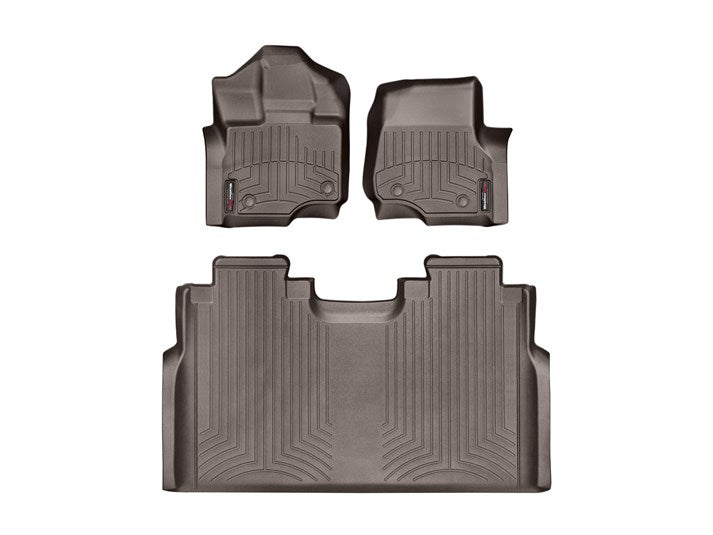 WeatherTech® 476971-476974 Ford F-150 15-17 Crew Cab COCOA Full Set