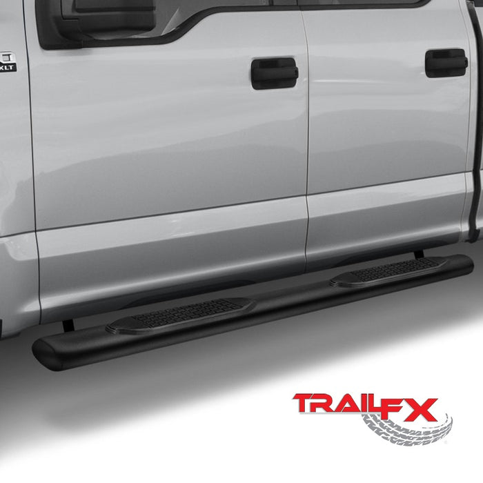 "TrailFX 4"" Oval Straight BLACK Nerf Bars 