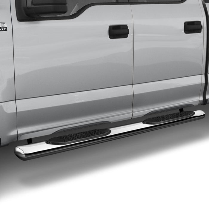 "TrailFX-A1502S-TrailFX® A1502S 4"" Oval Straight STAINLESS Step Bars 