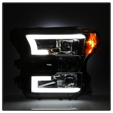 Spyder 5083678 SMOKED Projector Headlights w/ LED HALO 2015-2017 Ford F-150
