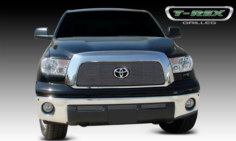 T-REX Grilles-54958-Tundra Grille 07-09 Toyota Tundra Top Grille Accent Above Main Grille Stainless Polished 1 Piece Upper Class Series T-REX Grilles-AutoAccessoriesGuru.com