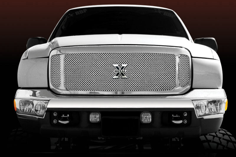 T-REX Grilles-6705700-Super Duty/Excursion Grille 00-04 Ford Super Duty/Excursion Stainless Polished X Metal Series T-REX Grilles-AutoAccessoriesGuru.com