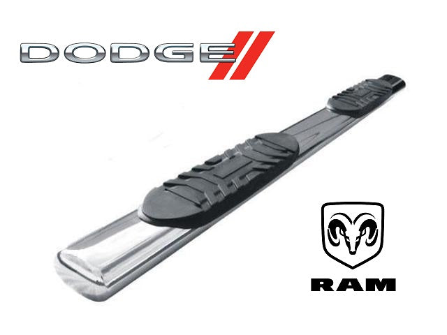 "TrailFX 6"" Oval Straight Stainless Steel Nerf Bars Dodge Trucks - www.AutoAccessoriesGuru.com"