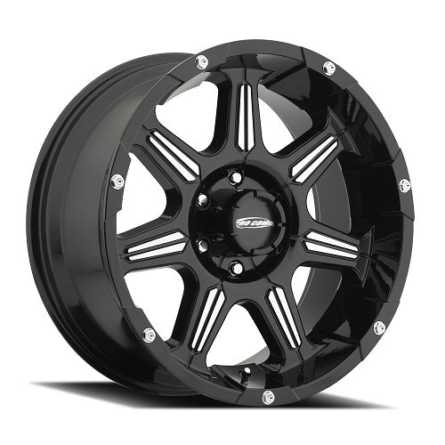 Pro Comp Alloy Wheels|Pro Comp USA-8151-2983-Series 8051 District 20x9 with 6 on 5.5 Bolt Pattern Black Machined Pro Comp Alloy Wheels-AutoAccessoriesGuru.com