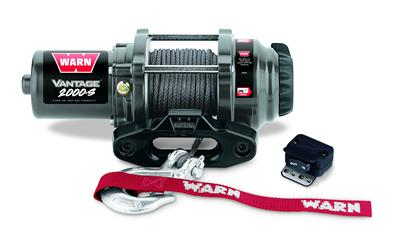WARN Industries-89021-WARN Vantage 2000-S ATV Winch 50' Synthetic Rope 2,000 Lb Capacity 89021-AutoAccessoriesGuru.com