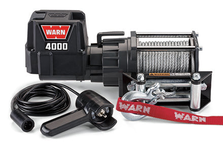 WARN 4000 DC Series Utility Winch 4,000 Lb Capacity 12V 94000