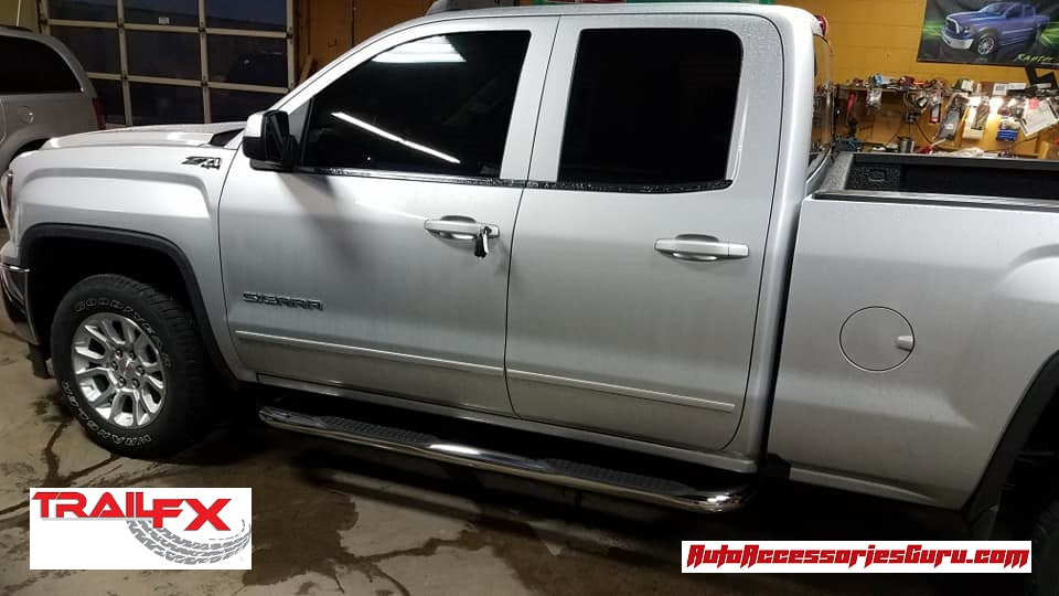 "Chevy Silverado 2500/3500 EXT. CAB 01-19 STAINLESS 3"" Step Bars TrailFX A0030S"