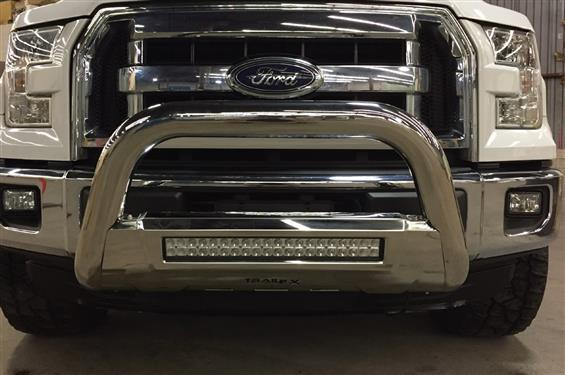 "TrailFX B1609SKIT 3.5"" STAINLESS Bull Bar w/ 20"" LED Light Bar 17-19 Ford SuperDuty"