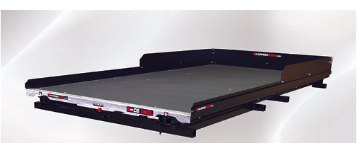 CargoGlide-CG1500XL-9548-LP-Low Profile Slide Out Truck Bed Tray 1500 lb capacity 100% Extension 36 Bearings Alum Tie-Down Rails Plywood Deck Fits most 8FT Long Beds-AutoAccessoriesGuru.com