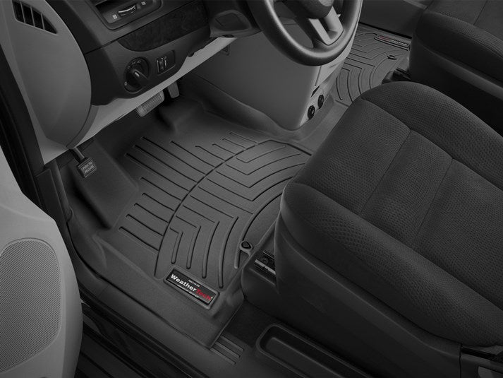WeatherTech 445621 Digital Fit Floor Liners Chrysler Town and Country Van 2011 2012 2013 2014 2015 2016 Front 1 Piece OTH Black Mat