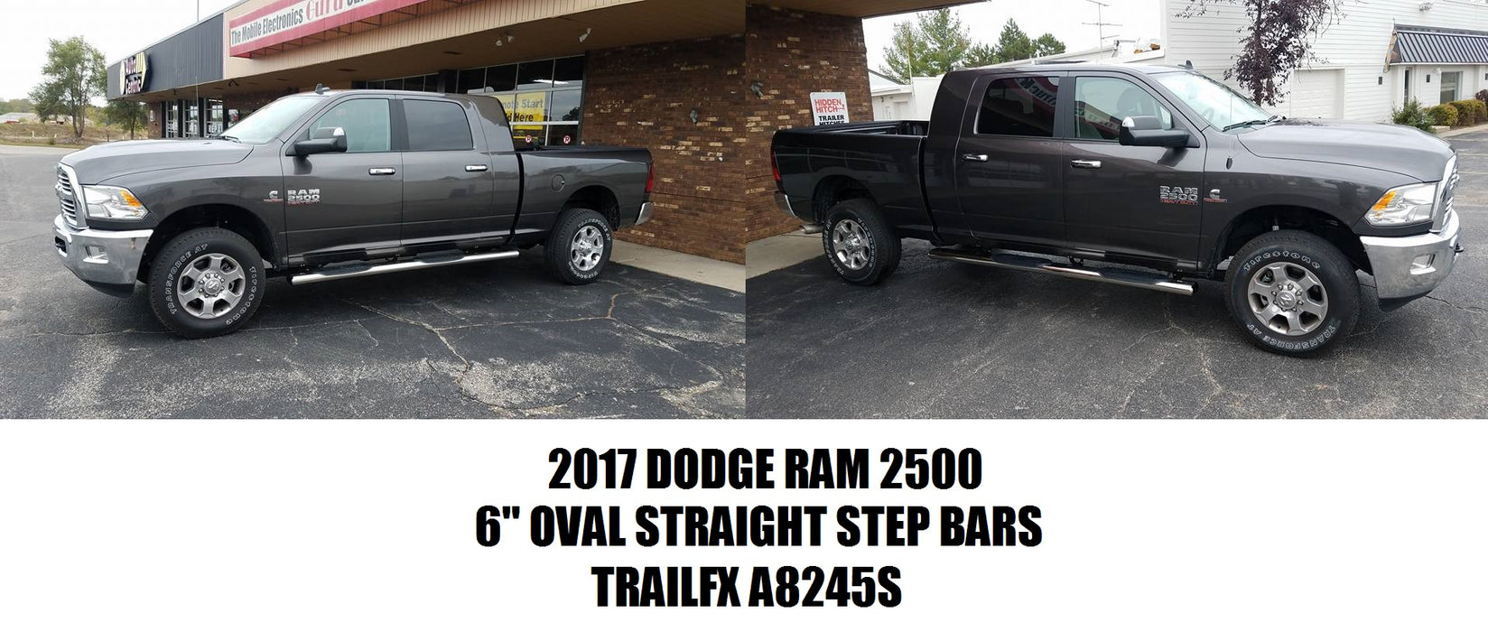 "TrailFX A8245S 6"" Oval Straight Side Step Nerf Bars Ram 2500"
