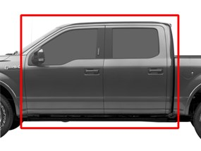WeatherTech® 477931-476974 Ford F-150 15-17 Crew Cab COCOA Full Set